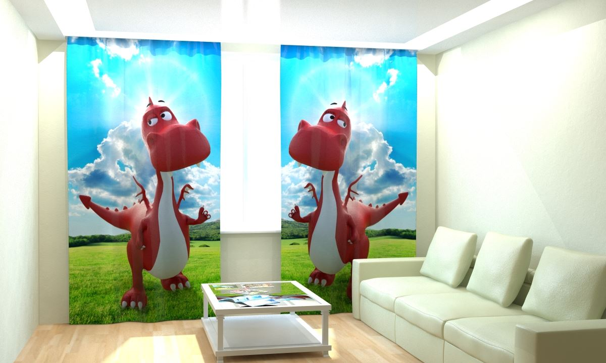 Фотошторы Красный Дракоша от Рим Декор