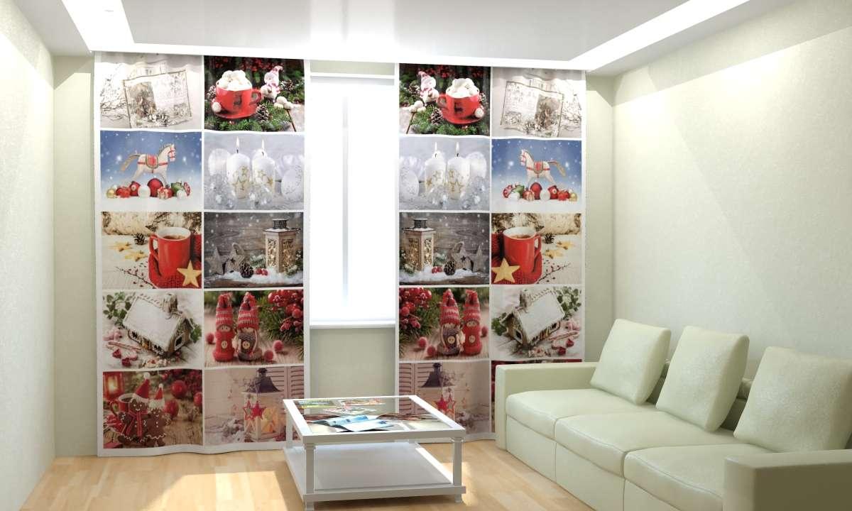 Фотошторы Новогодняя Коллекция Рим-Декор 29 от Рим Декор