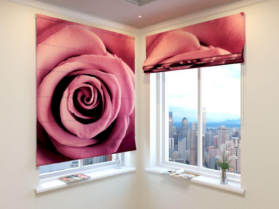 Римские фотошторы Бархатная роза от Рим Декор