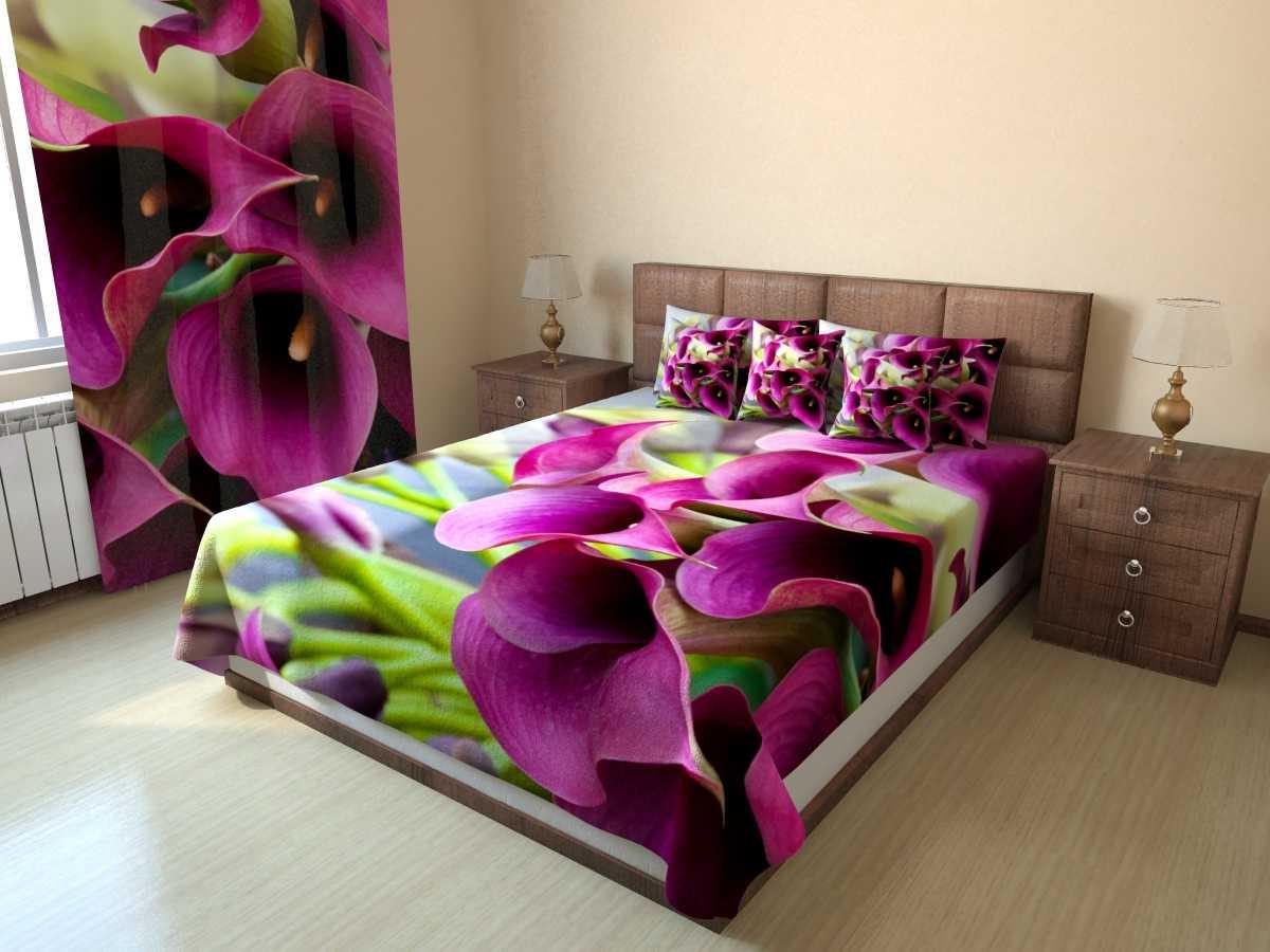 Фотопокрывало Цветочное бордо (1) от Рим Декор