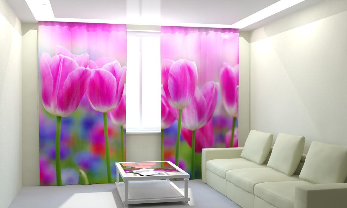 Фотошторы Розовые тюльпаны от Рим Декор