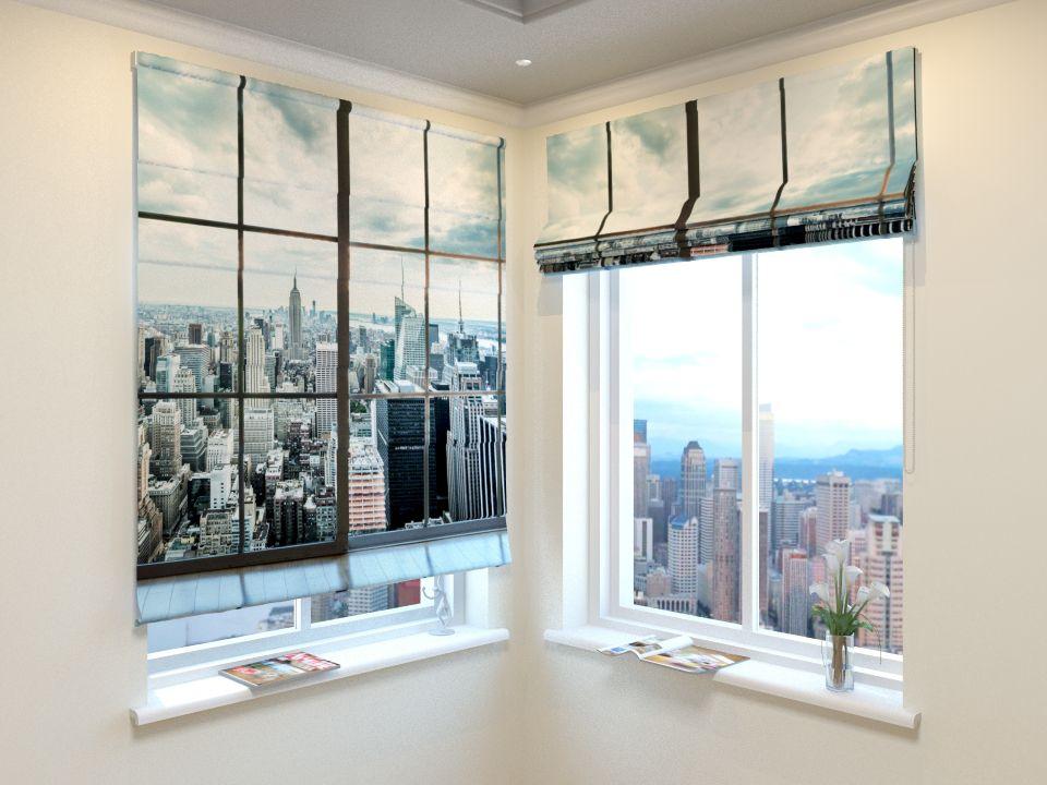 Римские фотошторы Окно на Манхеттен от Рим Декор