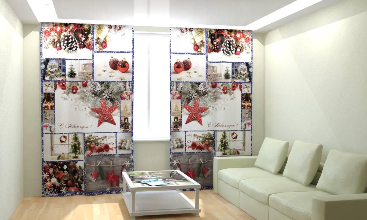 Фотошторы Новогодняя Коллекция Рим-Декор 36 от Рим Декор