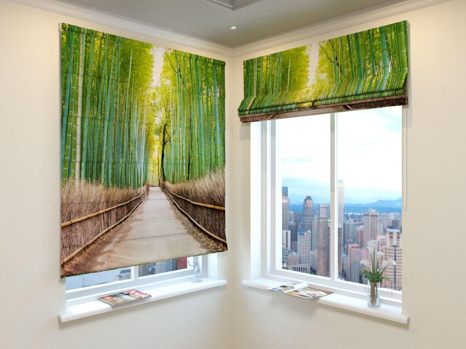Римские фотошторы Бамбуковый лес от Рим Декор