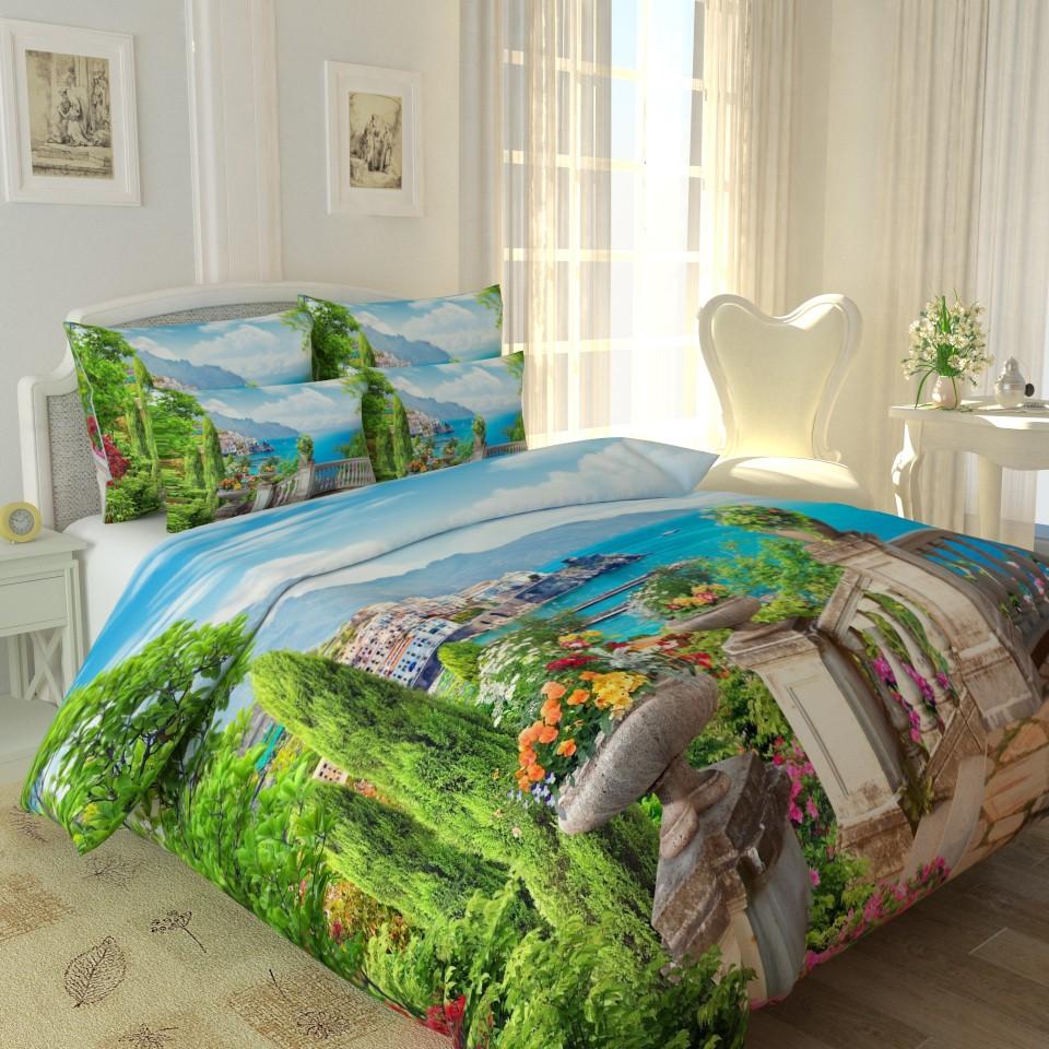 постельное белье с рисунком облаков