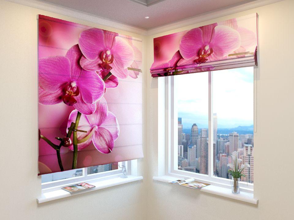 Римские фотошторы Розовая орхидея 2 от Рим Декор